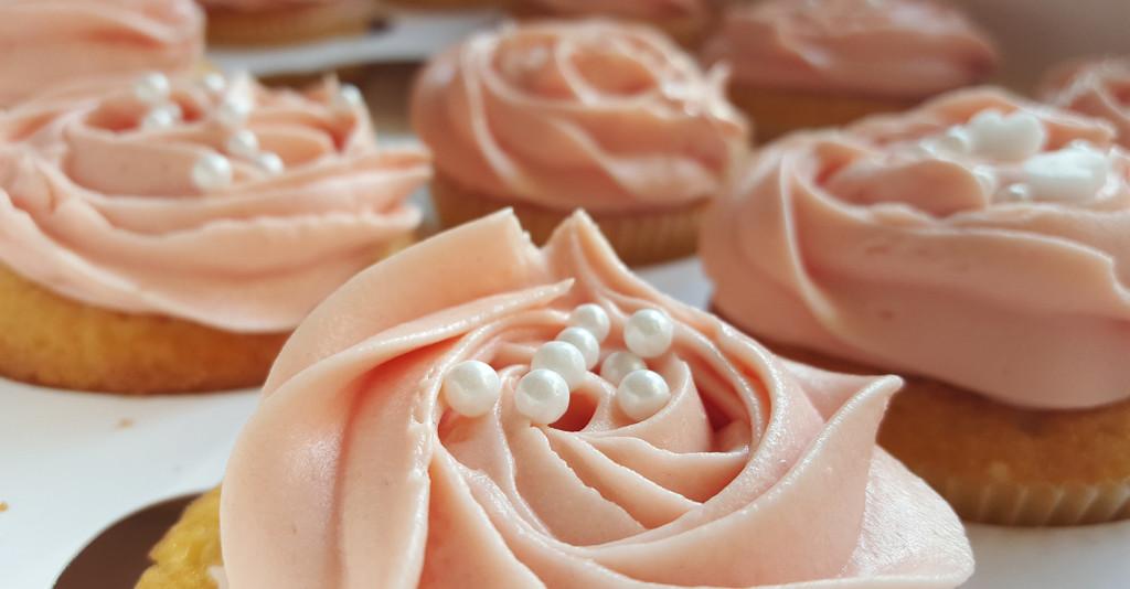 Cupcake-Frosting mit Perlen