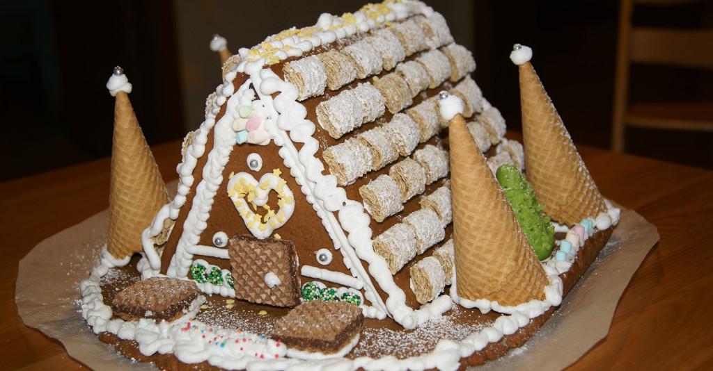 Lebkuchenhaus von hinten