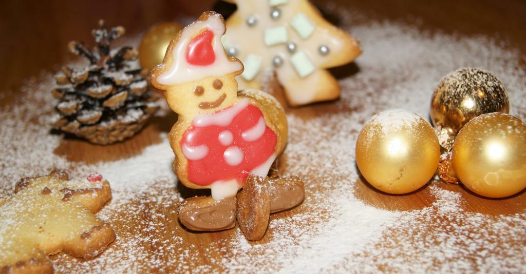 Kekse mit Schnee