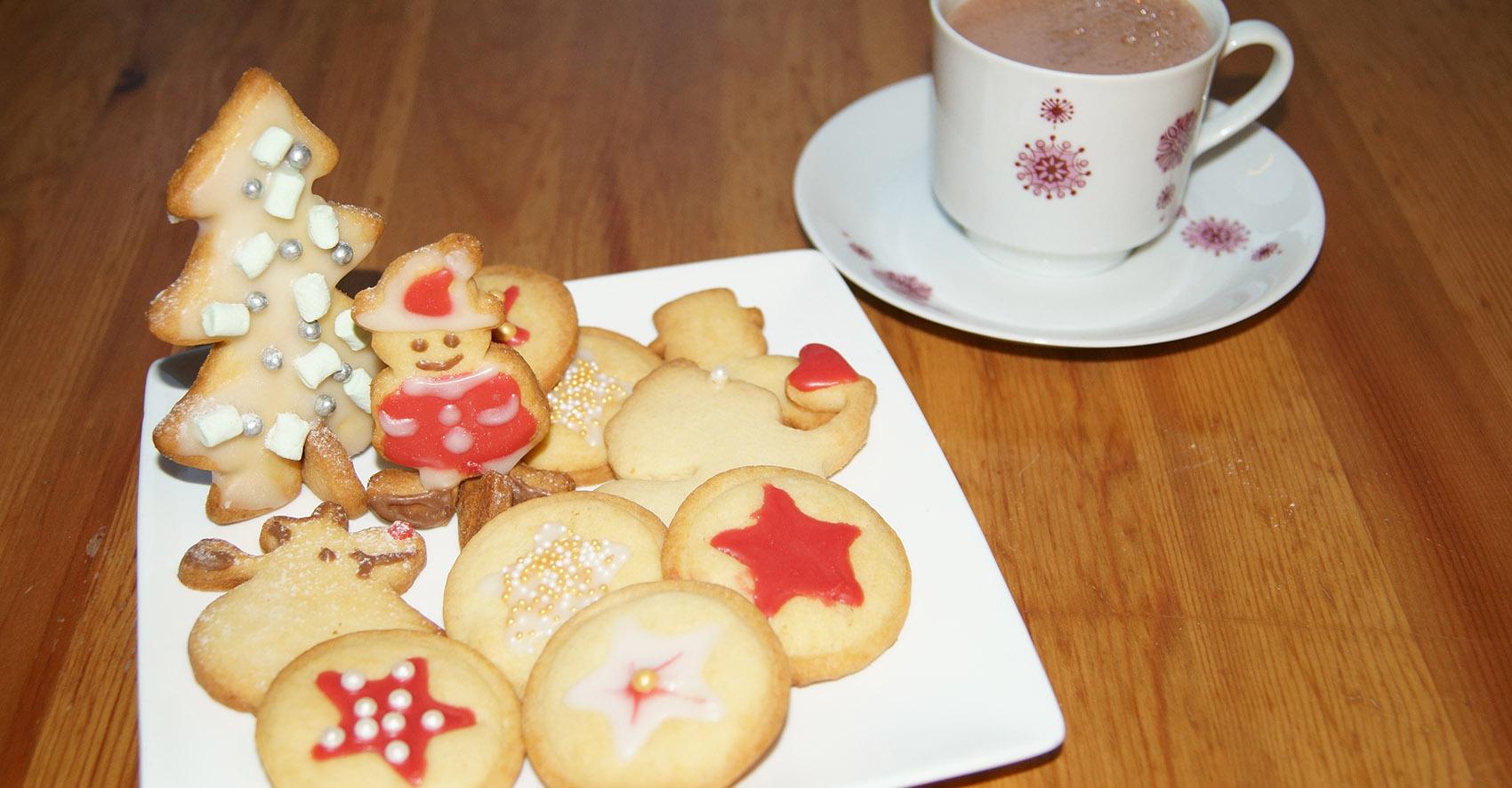 Kekse mit Kakao