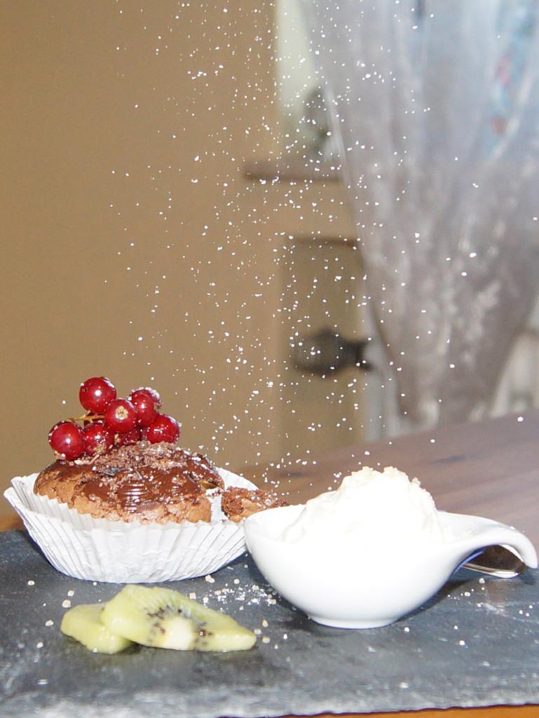 Schneebedeckter Cupcake