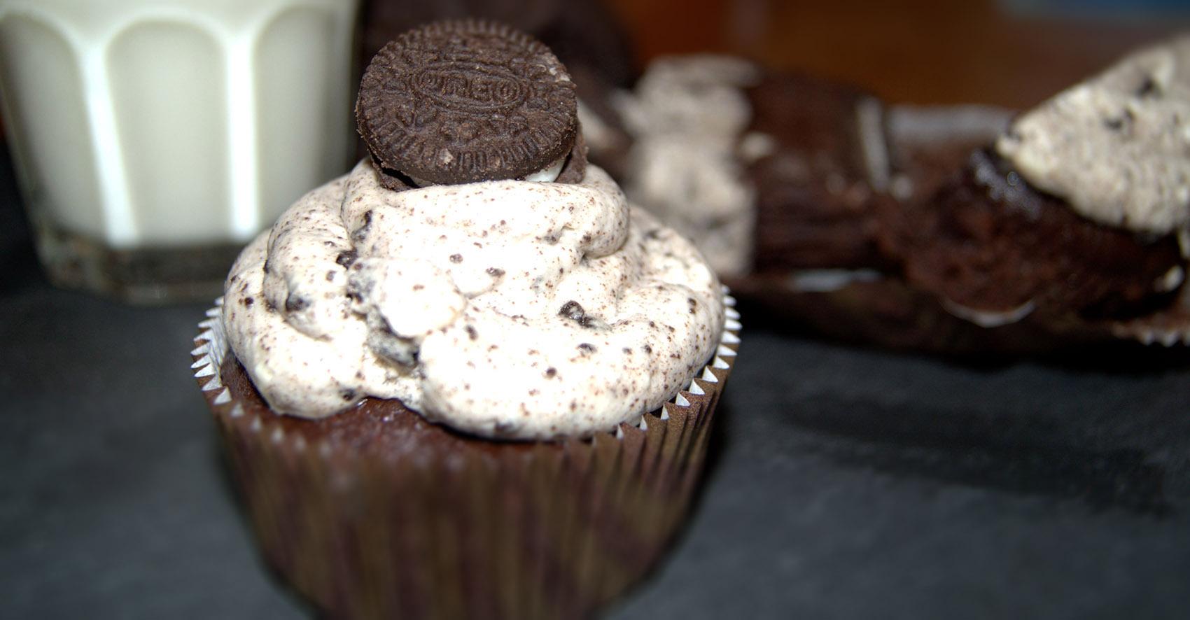Oreo Brownie Cupcake
