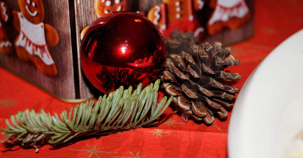 Weihnachtliche Deko zu den Engelsaugen