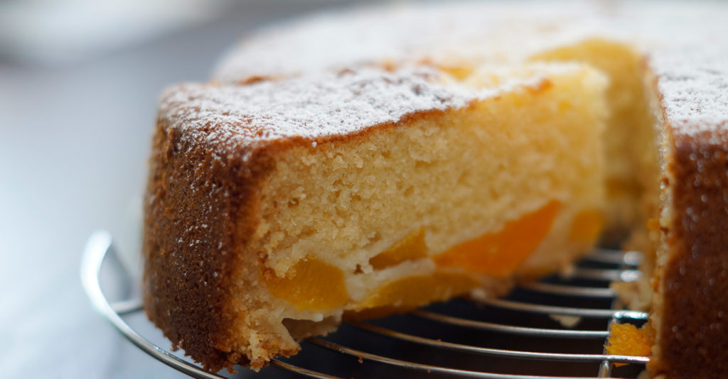 Kokos-Pfirsich-Kuchen